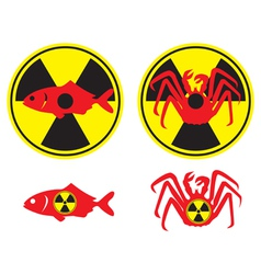 radioactive fish vector image