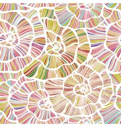 Seamless color floral background vector image vector image