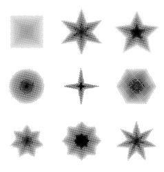Set of Halftone dots Shapes vector image vector image