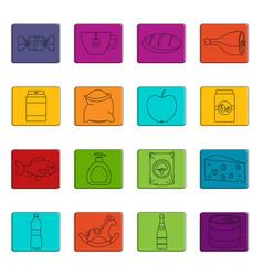 shop navigation foods icons doodle set vector image
