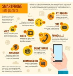 Smartphone infographics set vector