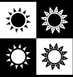 Sun sign black and white vector