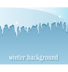Winter background with icicles vector image