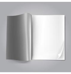 magazine blank vector image