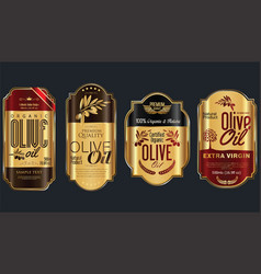 Retro vintage golden olive oil background vector