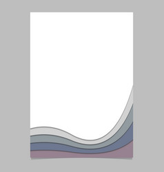 Page template from curved stripes - poster vector