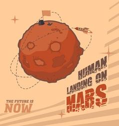 Human landing on Mars vector image
