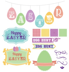 Pack of carnival inspired scrapbook easter vector