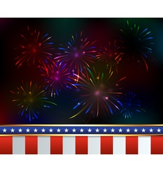 Patriotic fireworks fourth of july vector