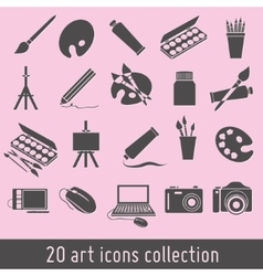 Art icons vector