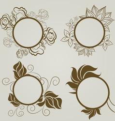 vintage frames autumn leafs vector image