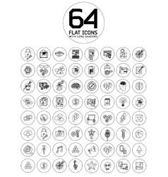 Modern thin line icons for web and mobile vector