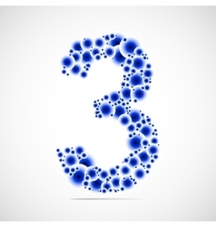 Number three made from balls vector