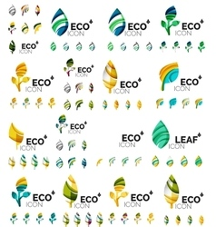 Mega collection of green summer concepts - vector