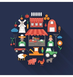 Flat design on farm theme vector