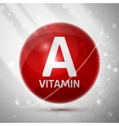 Vitamin a icon vector