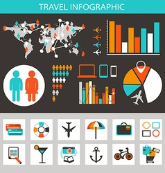 Travel infographic with icons and elements vector image