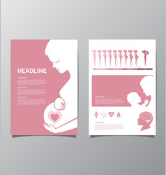 Healthy pregnant women infographic vector