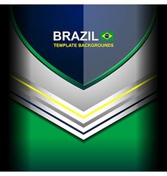 Brazil color banner backgrounds vector