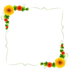 A colourful floral border vector image vector image