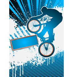 bmx cyclist poster template vector vector image