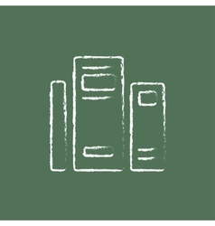 Books icon drawn in chalk vector image vector image
