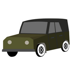 car for travel hunting safari flat vector image