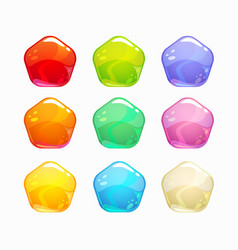 cartoon colorful jelly candies set vector image