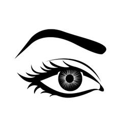 Cartoon female eye icon image vector