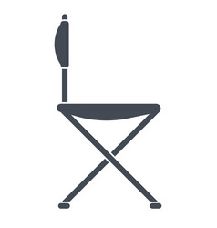 Chair for travel or for camping vector