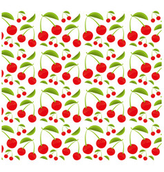 Cherry fruit seamless pattern design vector