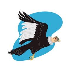 Condor in flight vector