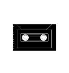 contour cassette to listen and play music vector image vector image