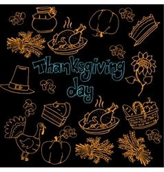 Doodle of thanksgiving hand draw vector