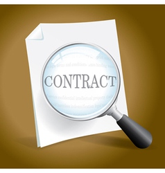 Examining a Contract vector image vector image