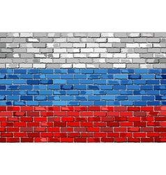 Flag of Russia on a brick wall vector image vector image