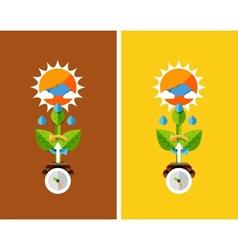 Flat design nature concept - plant growth vector image
