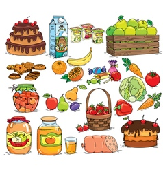 Food set vector image vector image