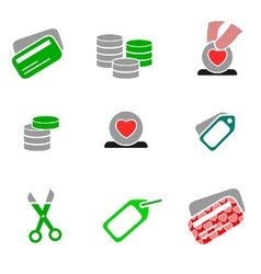 icons - shopping 03 vector image vector image