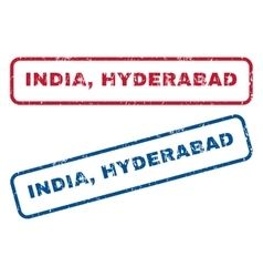India hyderabad rubber stamps vector