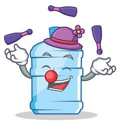 Juggling gallon character cartoon style vector
