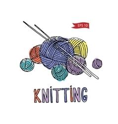 knitting equipment vector image