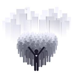 love for the big city vector image