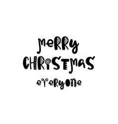 Merry christmas poster vector