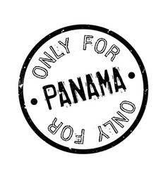 Only for panama rubber stamp vector