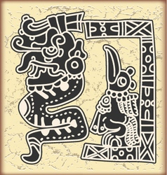 Ornament in style of the Maya vector image