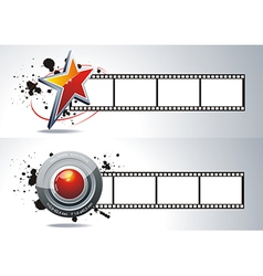 realistic 3d film reel vector image vector image