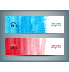Set of banners with watercolor hand drawn texture vector image vector image