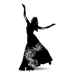 Silhouette belly dancer 2 vector