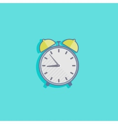 simple with an alarm clock icon flat design vector image